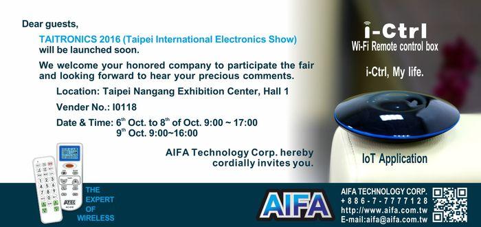 AIFA is at Computex Taipei in 2016 again!